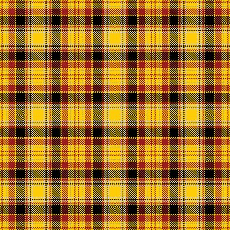 Yellow,Red and Black Tartan Plaid Scottish Seamless Pattern. Texture from tartan, plaid, tablecloths, shirts, clothes, dresses, bedding, blankets and other textile.