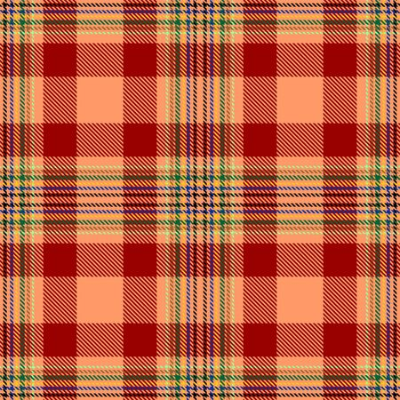Red and Orange Tartan Plaid Scottish Seamless Pattern. Texture from tartan, plaid, tablecloths, shirts, clothes, dresses, bedding, blankets and other textile.