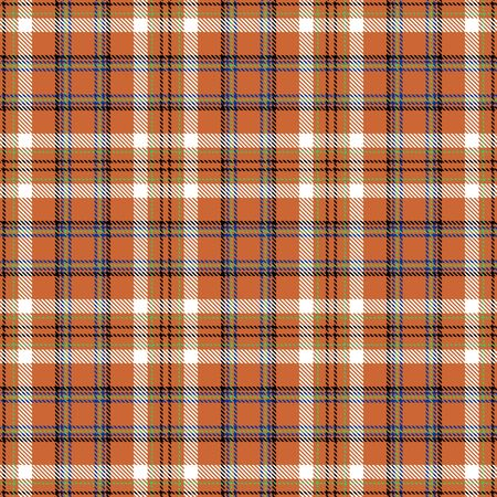 Gold and White Tartan Plaid Scottish Seamless Pattern. Texture from tartan, plaid, tablecloths, shirts, clothes, dresses, bedding, blankets and other textile. 일러스트