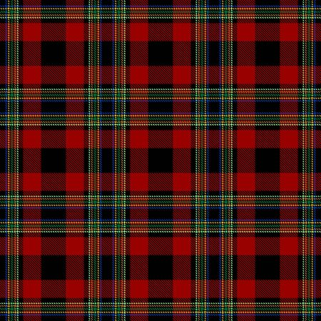 Red,Black and Green Tartan Plaid Scottish Seamless Pattern. Texture from tartan, plaid, tablecloths, shirts, clothes, dresses, bedding, blankets and other textile. 일러스트
