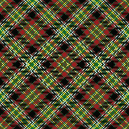 Green,Red,Black,Yellow and Gray Tartan Plaid Scottish Seamless Pattern. Texture from tartan, plaid, tablecloths, shirts, clothes, dresses, bedding, blankets and other textile. 일러스트