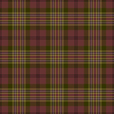 Brown,Green,Black and White Tartan Plaid Scottish Seamless Pattern. Texture from tartan, plaid, tablecloths, shirts, clothes, dresses, bedding, blankets and other textile. 일러스트