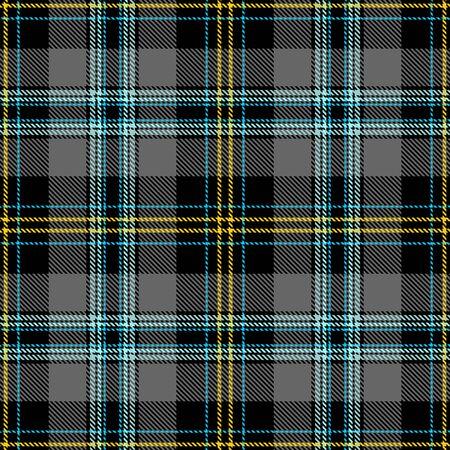 Black,Gray,Yellow and Blue Tartan Plaid Scottish Seamless Pattern. Texture from tartan, plaid, tablecloths, shirts, clothes, dresses, bedding, blankets and other textile. 일러스트