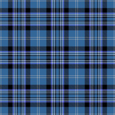 Blue,Black and Gray Tartan Plaid Scottish Seamless Pattern. Texture from tartan, plaid, tablecloths, shirts, clothes, dresses, bedding, blankets and other textile. Ilustração