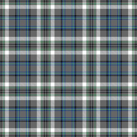 Gray,White,Black,Blue and Green Tartan Plaid Scottish Seamless Pattern. Texture from tartan, plaid, tablecloths, shirts, clothes, dresses, bedding, blankets and other textile.