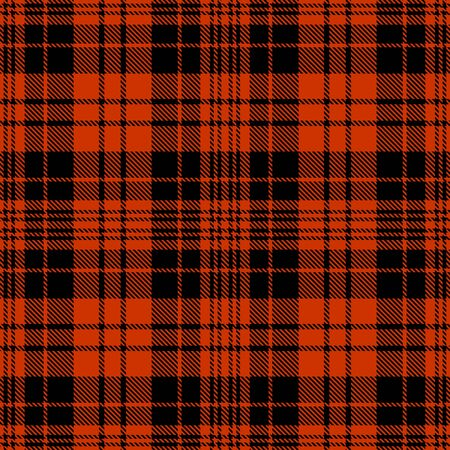 Black and Dark Orange Tartan Plaid Scottish Seamless Pattern. Texture from tartan, plaid, tablecloths, shirts, clothes, dresses, bedding, blankets and other textile.