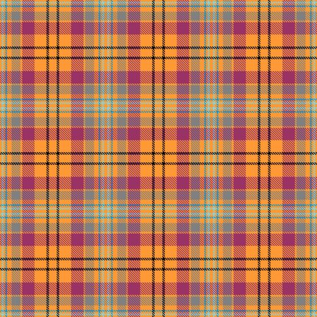 Orange,Purple,Black,Blue and Gray Tartan Plaid Scottish Seamless Pattern. Texture from tartan, plaid, tablecloths, shirts, clothes, dresses, bedding, blankets and other textile.