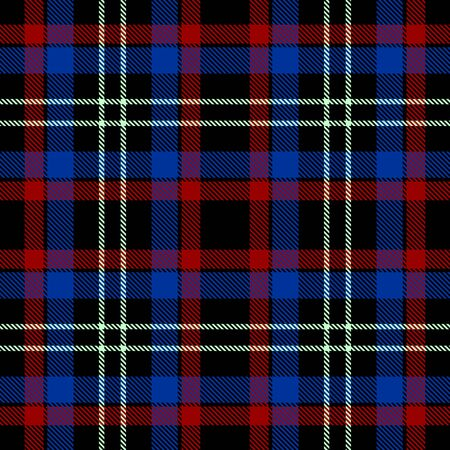 Blue,Red,Black and White Tartan Plaid Scottish Seamless Pattern. Texture from tartan, plaid, tablecloths, shirts, clothes, dresses, bedding, blankets and other textile. 일러스트