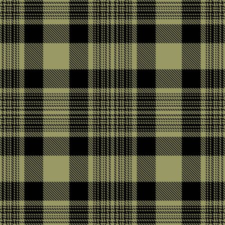 Black and Khaki  Tartan Plaid Scottish Seamless Pattern. Texture from tartan, plaid, tablecloths, shirts, clothes, dresses, bedding, blankets and other textile. 일러스트