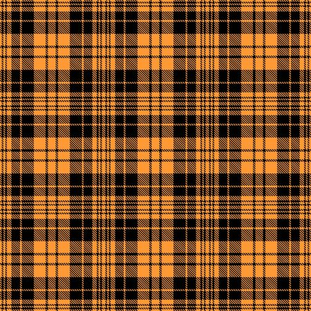 Gold and Black Tartan Plaid Scottish Seamless Pattern. Texture from tartan, plaid, tablecloths, shirts, clothes, dresses, bedding, blankets and other textile. 일러스트