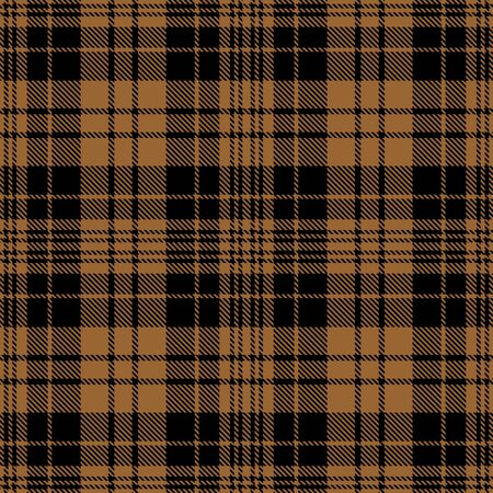 Brown and Black Tartan Plaid Scottish Seamless Pattern. Texture from tartan, plaid, tablecloths, shirts, clothes, dresses, bedding, blankets and other textile.