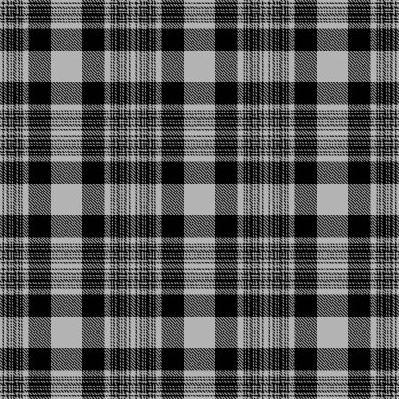 Gray and Black Tartan Plaid Scottish Seamless Pattern. Texture from tartan, plaid, tablecloths, shirts, clothes, dresses, bedding, blankets and other textile.