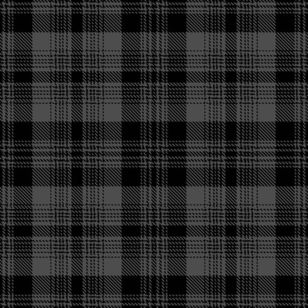 Dark Gray and Black Tartan Plaid Scottish Seamless Pattern. Texture from tartan, plaid, tablecloths, shirts, clothes, dresses, bedding, blankets and other textile. 일러스트