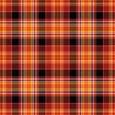 Orange,Red,Black,Yellow and Gray Tartan Plaid Scottish Seamless Pattern. Texture from tartan, plaid, tablecloths, shirts, clothes, dresses, bedding, blankets and other textile.