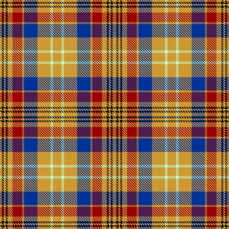 Gold,Blue,Red and Black Tartan Plaid Scottish Seamless Pattern. Texture from tartan, plaid, tablecloths, shirts, clothes, dresses, bedding, blankets and other textile.