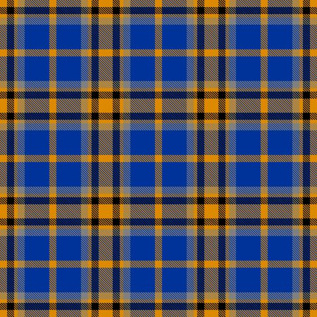 Blue and Yellow Tartan Plaid Scottish Seamless Pattern. Texture from tartan, plaid, tablecloths, shirts, clothes, dresses, bedding, blankets and other textile.