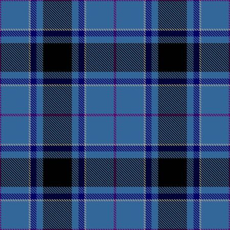 Blue and Black Tartan Plaid Scottish Seamless Pattern. Texture from tartan, plaid, tablecloths, shirts, clothes, dresses, bedding, blankets and other textile.