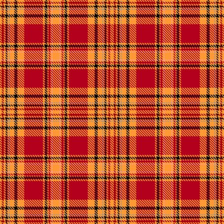 Orange,Red and Black Tartan Plaid Scottish Seamless Pattern. Texture from tartan, plaid, tablecloths, shirts, clothes, dresses, bedding, blankets and other textile. 일러스트