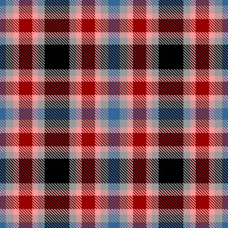 Red,Gray,Black,Blue and Pink Tartan Plaid Scottish Seamless Pattern. Texture from tartan, plaid, tablecloths, shirts, clothes, dresses, bedding, blankets and other textile. 일러스트