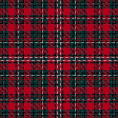 Red and Green Tartan Plaid Scottish Seamless Pattern. Texture from tartan, plaid, tablecloths, shirts, clothes, dresses, bedding, blankets and other textile. Векторная Иллюстрация