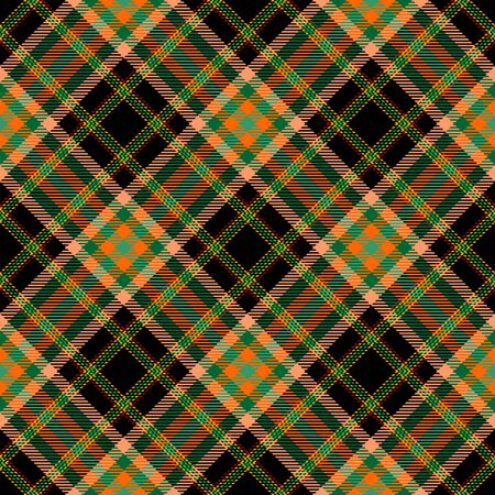 Black,Orange,Green and Beige Tartan Plaid Scottish Seamless Pattern. Texture from tartan, plaid, tablecloths, shirts, clothes, dresses, bedding, blankets and other textile.