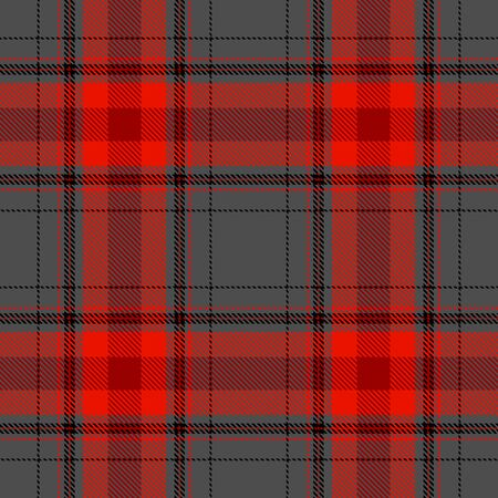 Red and Gray Tartan Plaid Scottish Seamless Pattern. Texture from tartan, plaid, tablecloths, shirts, clothes, dresses, bedding, blankets and other textile.