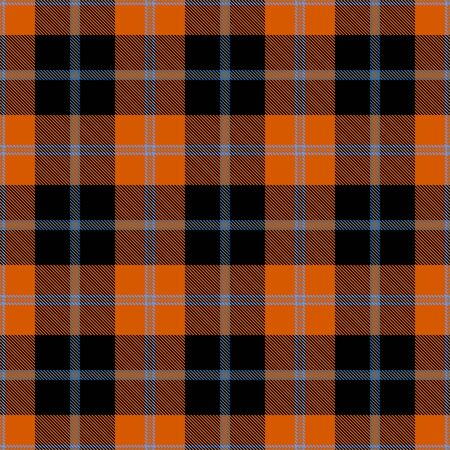 Orange,Black and Blue Tartan Plaid Scottish Seamless Pattern. Texture from tartan, plaid, tablecloths, shirts, clothes, dresses, bedding, blankets and other textile.