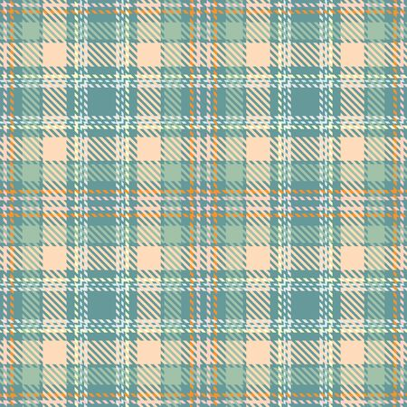 Beige and Green Tartan Plaid Scottish Seamless Pattern. Texture from tartan, plaid, tablecloths, shirts, clothes, dresses, bedding, blankets and other textile.