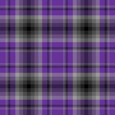 Modello senza cuciture scozzese del plaid scozzese viola, grigio e nero. Texture da tartan, plaid, tovaglie, camicie, vestiti, vestiti, biancheria da letto, coperte e altri tessuti.