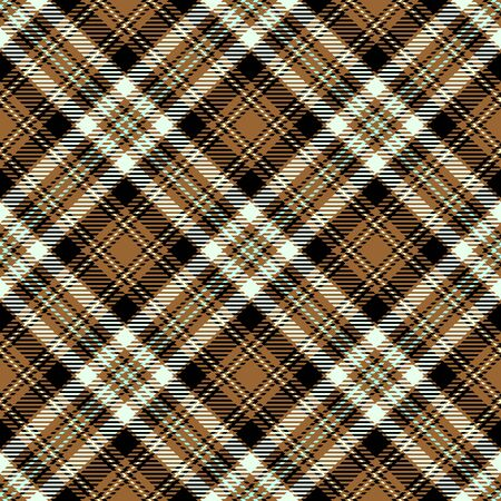 Brown,White and Black Tartan Plaid Scottish Seamless Pattern. Texture from tartan, plaid, tablecloths, shirts, clothes, dresses, bedding, blankets and other textile.
