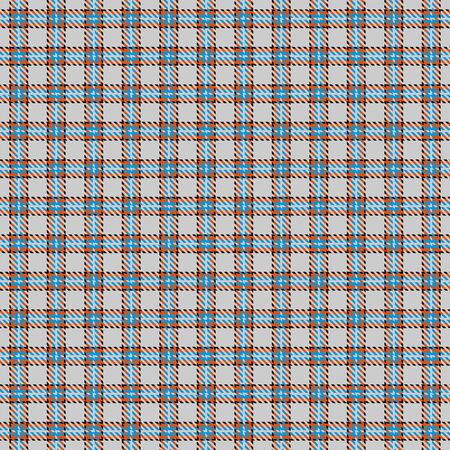 Gray,Blue,Black and Orange Tartan Plaid Scottish Seamless Pattern. Texture from tartan, plaid, tablecloths, shirts, clothes, dresses, bedding, blankets and other textile. Иллюстрация