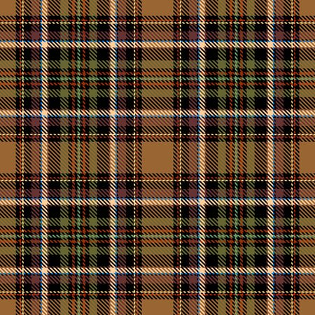 Brown,Black,Green,Red and Beige Tartan Plaid Scottish Seamless Pattern. Texture from tartan, plaid, tablecloths, shirts, clothes, dresses, bedding, blankets and other textile. Vecteurs