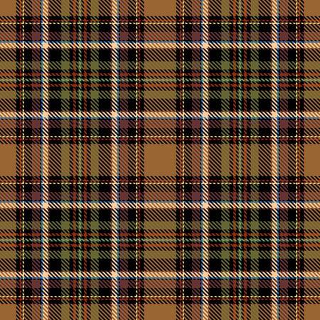 Motif écossais sans couture écossais marron, noir, vert, rouge et beige. Texture de tartan, plaid, nappes, chemises, vêtements, robes, literie, couvertures et autres textiles. Vecteurs