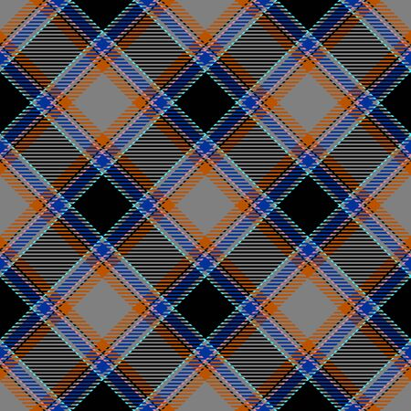 Gray,Black,Blue and Orange Tartan Plaid Scottish Seamless Pattern. Texture from tartan, plaid, tablecloths, shirts, clothes, dresses, bedding, blankets and other textile.