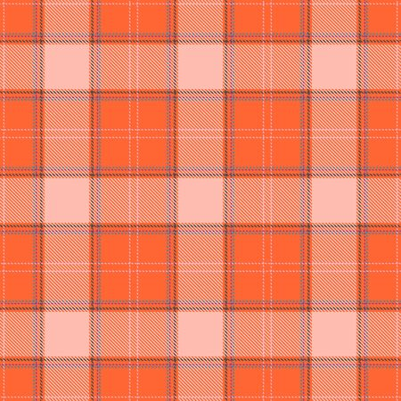 Orange and Beige Tartan Plaid Scottish Seamless Pattern. Texture from tartan, plaid, tablecloths, shirts, clothes, dresses, bedding, blankets and other textile.