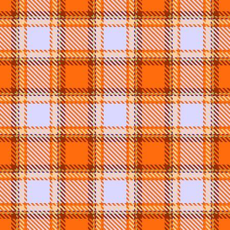 Motif écossais sans couture écossais à carreaux tartan orange, gris et marron. Texture de tartan, plaid, nappes, chemises, vêtements, robes, literie, couvertures et autres textiles.