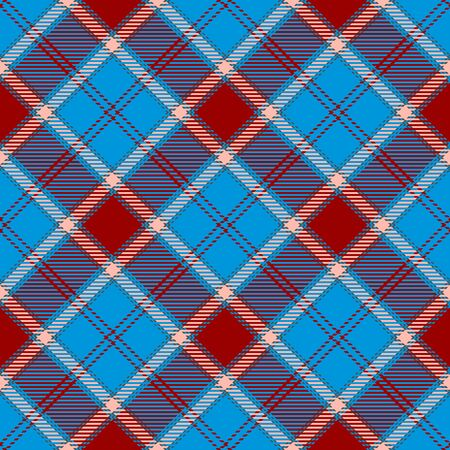 Blue,Red and Beige Tartan Plaid Scottish Seamless Pattern. Texture from tartan, plaid, tablecloths, shirts, clothes, dresses, bedding, blankets and other textile. 