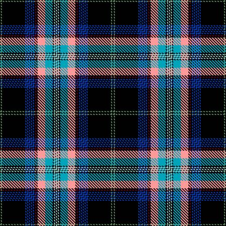 Blue,Black,Pink and Red Tartan Plaid Scottish Seamless Pattern. Texture from tartan, plaid, tablecloths, shirts, clothes, dresses, bedding, blankets and other textile.