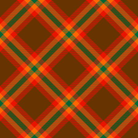 Brown,Red,Orange and Green Tartan Plaid Scottish Seamless Pattern. Texture from tartan, plaid, tablecloths, shirts, clothes, dresses, bedding, blankets and other textile.