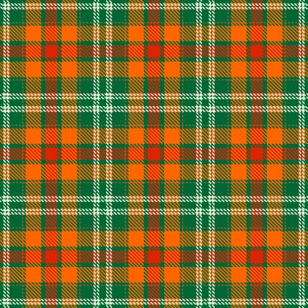 Orange,Green,Red and Beige Tartan Plaid Scottish Seamless Pattern. Texture from tartan, plaid, tablecloths, shirts, clothes, dresses, bedding, blankets and other textile. Çizim