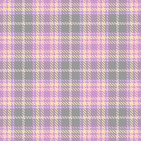 Purple,Beige,Pink and Khaki Tartan Plaid Scottish Seamless Pattern. Texture from tartan, plaid, tablecloths, shirts, clothes, dresses, bedding, blankets and other textile. Çizim