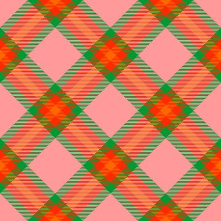 Pink,Green,Red and Orange Tartan Plaid Scottish Seamless Pattern. Texture from tartan, plaid, tablecloths, shirts, clothes, dresses, bedding, blankets and other textile. Çizim