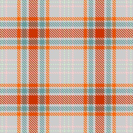 Gray,Red,Green,Orange and Pink Tartan Plaid Scottish Seamless Pattern. Texture from tartan, plaid, tablecloths, shirts, clothes, dresses, bedding, blankets and other textile.