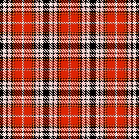 Red,Black,Orange,White  and Pink Tartan Plaid Scottish Seamless Pattern. Texture from tartan, plaid, tablecloths, shirts, clothes, dresses, bedding, blankets and other textile.