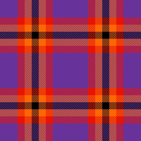 Purple,Red,Orange and Black Tartan Plaid Scottish Seamless Pattern. Texture from tartan, plaid, tablecloths, shirts, clothes, dresses, bedding, blankets and other textile. Çizim