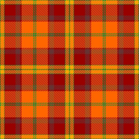 Orange,Red,Yellow,Green and Brown Tartan Plaid Scottish Seamless Pattern. Texture from tartan, plaid, tablecloths, shirts, clothes, dresses, bedding, blankets and other textile. Çizim