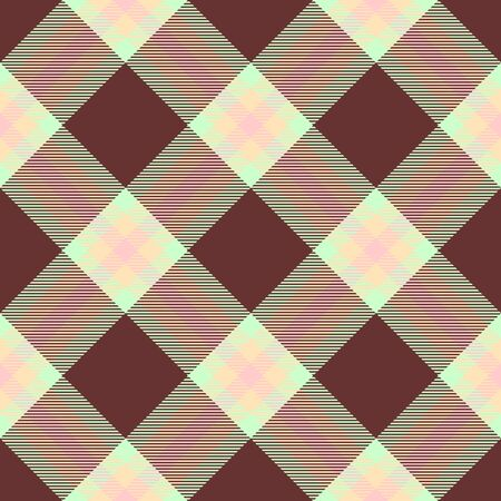Brown,Green,Beige and Pink Tartan Plaid Scottish Seamless Pattern. Texture from tartan, plaid, tablecloths, shirts, clothes, dresses, bedding, blankets and other textile. Çizim