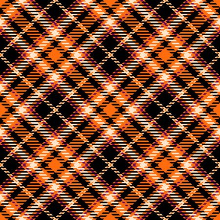 Orange,Black,White and Purple Tartan Plaid Scottish Seamless Pattern. Texture from tartan, plaid, tablecloths, shirts, clothes, dresses, bedding, blankets and other textile.