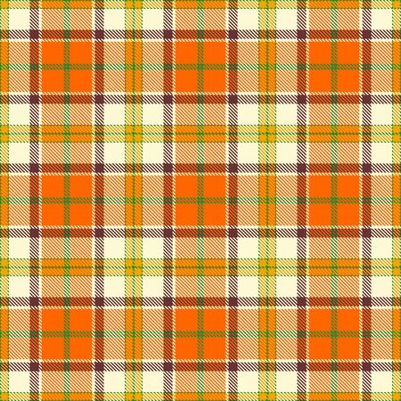Orange,Beige,Gold,Brown and Green Tartan Plaid Scottish Seamless Pattern. Texture from tartan, plaid, tablecloths, shirts, clothes, dresses, bedding, blankets and other textile.