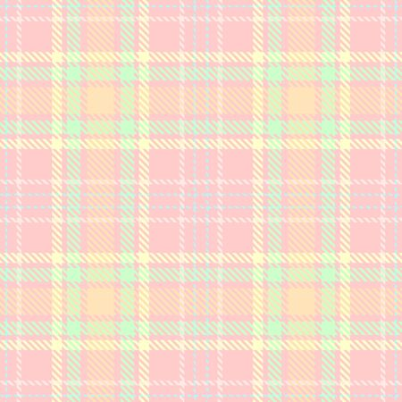 Pink,Green,Yellow and Blue Tartan Plaid Scottish Seamless Pattern. Texture from tartan, plaid, tablecloths, shirts, clothes, dresses, bedding, blankets and other textile. Çizim